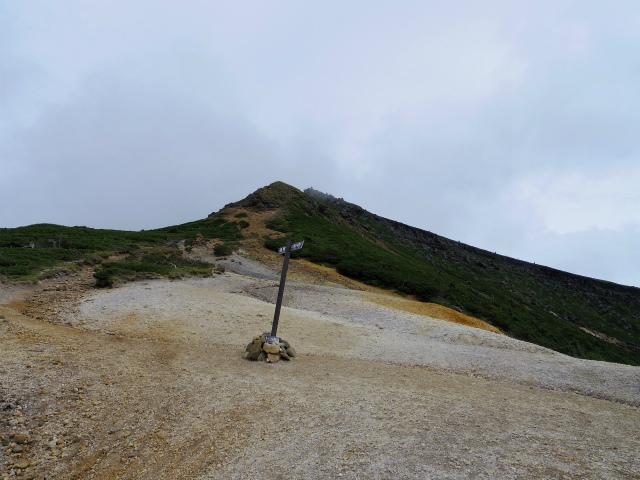 八ヶ岳・横岳(桜平~硫黄岳~奥ノ院) 登山口コースガイド 赤岩の頭鞍部から硫黄岳の展望【登山口ナビ】