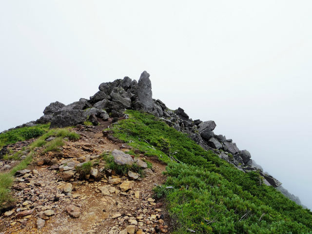 八ヶ岳・横岳(桜平~硫黄岳~奥ノ院) 登山口コースガイド 硫黄岳の岩稜【登山口ナビ】
