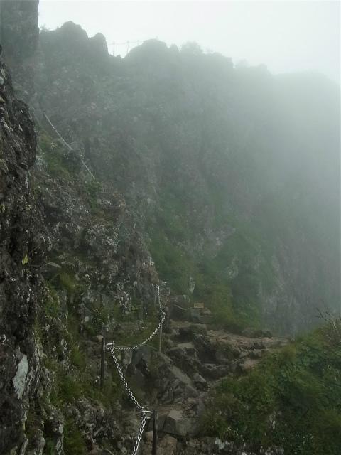 八ヶ岳・横岳(桜平~硫黄岳~奥ノ院) 登山口コースガイド 横岳山頂直下のトラバース【登山口ナビ】
