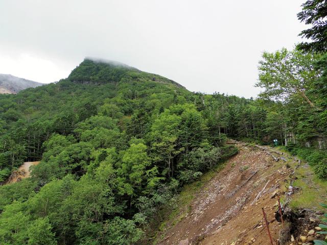 八ヶ岳・横岳(桜平~硫黄岳~奥ノ院) 登山口コースガイド 崩壊地上部【登山口ナビ】