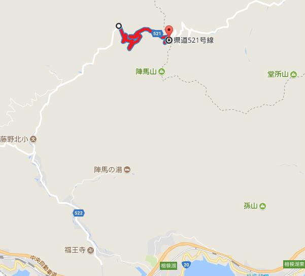 【陣馬山】和田林道(神奈川県道521号線)の通行規制地図【登山口ナビ】&