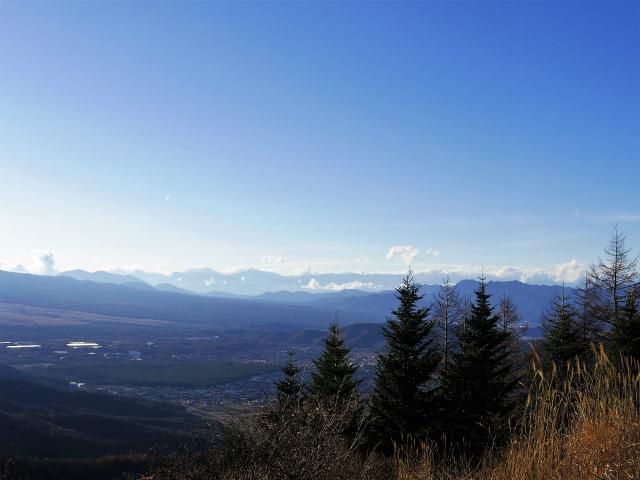 石割山(石割神社) 登山口コースガイド 石割山山頂からの南アルプス【登山口ナビ】