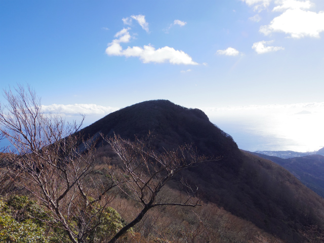 天城山(万二郎岳~万三郎岳周回)登山口コースガイド 馬の背からの万二郎岳【登山口ナビ】