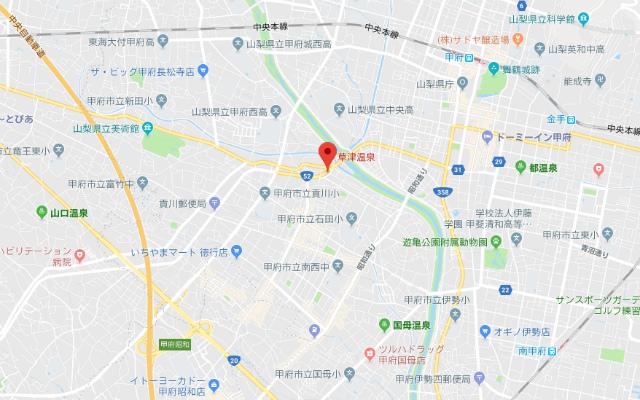 甲府・草津温泉 至福の湯 地図【登山口ナビ】