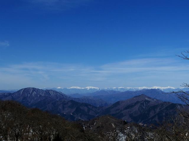 大室山(日陰沢新道コース) 登山口コースガイド 加入道山分岐から南アルプスの眺望【登山口ナビ】