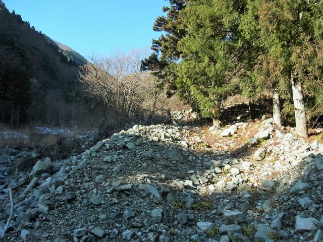 大室山(日陰沢新道コース) 登山口コースガイド ガレ場【登山口ナビ】