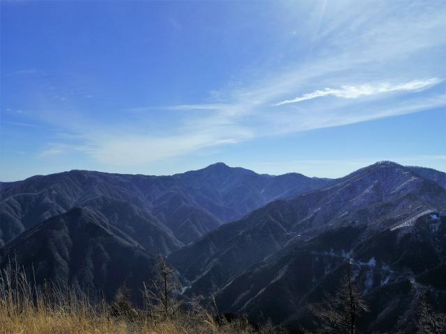 大室山(日陰沢新道コース) 登山口コースガイド 県界尾根からの蛭ヶ岳・檜洞丸の眺望【登山口ナビ】