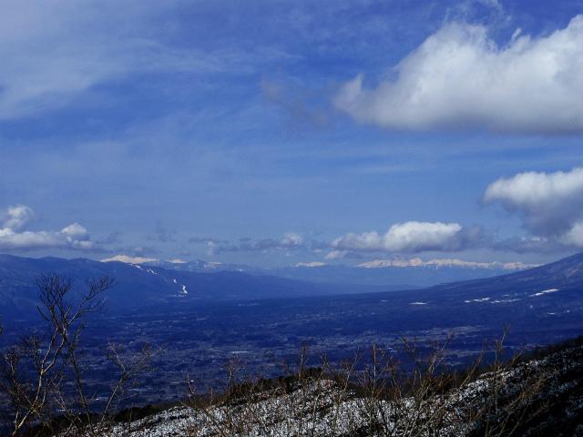 茅ヶ岳(深田記念公園~女岩コース) 登山口コースガイド 茅ヶ岳山頂からの北アルプスの眺望【登山口ナビ】