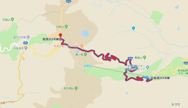 草津白根山の噴火警戒レベル2に引き上げ 通行規制地図【登山口ナビ】