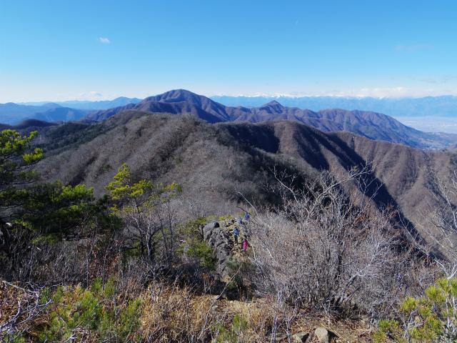 三ツ峠山(本社ヶ丸~清八山) 露岩の展望台【登山口コースガイド】