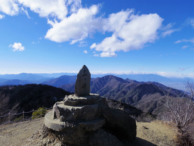 三ツ峠山(北口登山道)登山口コースガイド 開運山山頂【登山口コースガイド】