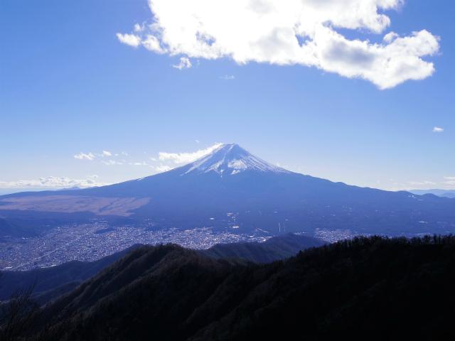 三ツ峠山(北口登山道)登山口コースガイド 開運山山頂からの富士山の眺望【登山口コースガイド】