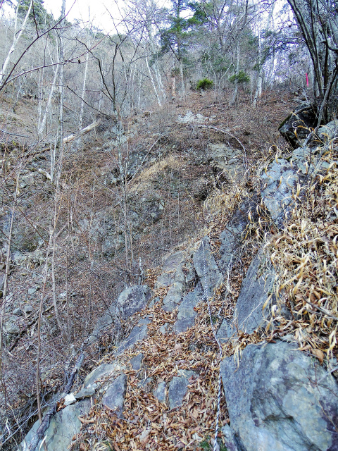 三ツ峠山(北口登山道)登山口コースガイド ロープの急登【登山口コースガイド】