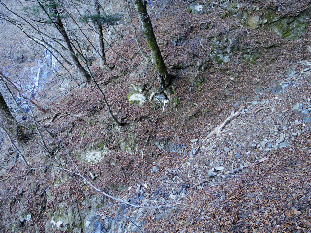 三ツ峠山(北口登山道)登山口コースガイド ガレ場【登山口コースガイド】