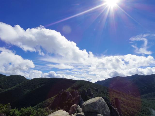 瑞牆山・不動滝口(黒森コース)登山口コースガイド 山頂【登山口ナビ】