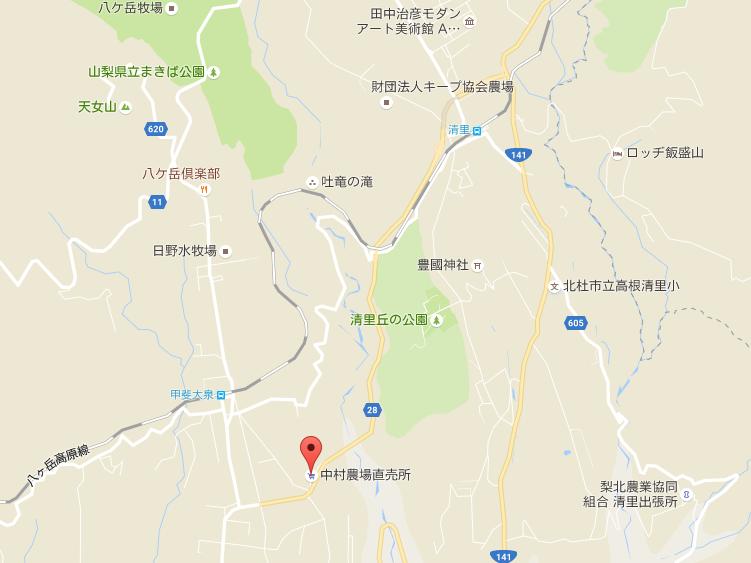 中村農場地図【登山口ナビ】