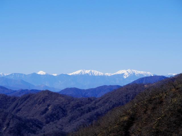 丹沢山(早戸大滝~大滝新道) 登山口コースガイド 丹沢山山頂からの南アルプス【登山口ナビ】