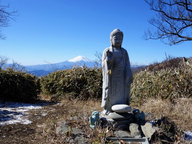 丹沢山(早戸大滝~大滝新道) 登山口コースガイド 丹沢山山頂の仏像と富士山【登山口ナビ】
