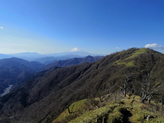 丹沢山(早戸大滝~大滝新道) 登山口コースガイド 不動ノ峰と富士山【登山口ナビ】