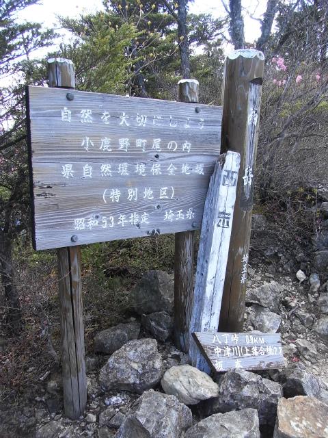 両神山(八丁峠コース) 登山口コースガイド 西岳山頂【登山口ナビ】