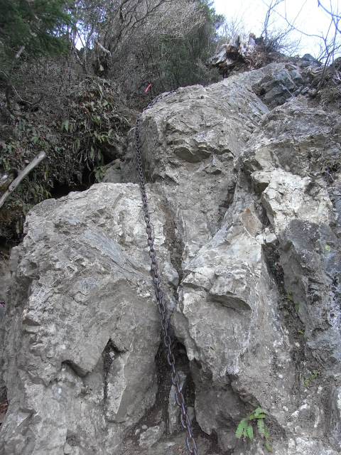 両神山(八丁峠コース) 登山口コースガイド 東岳鎖場【登山口ナビ】