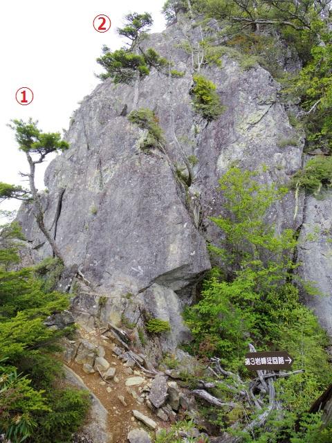鶏冠山・木賊山(鶏冠尾根) 登山口コースガイド 第三岩峰【登山口ナビ】