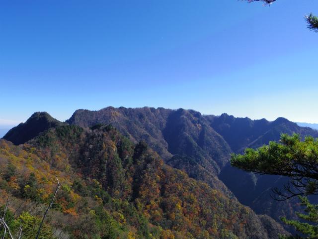 赤岩岳(赤岩尾根) 登山口コースガイド P3峰からの両神山【登山口ナビ】
