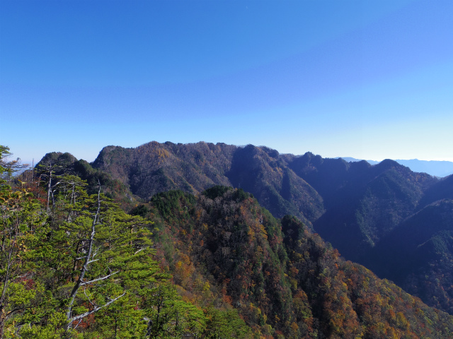 赤岩岳(赤岩尾根) 登山口コースガイド P1峰山頂の眺望 両神山【登山口ナビ】