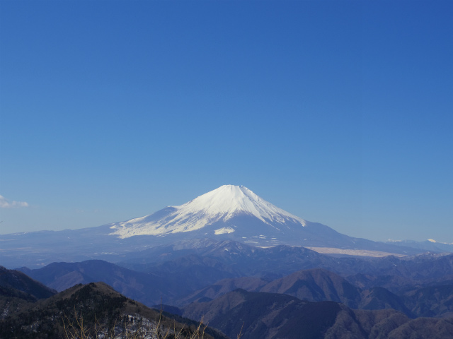 鍋割山(雨山峠~鍋割峠)コースガイド 鍋割山山頂からの富士山【登山口ナビ】