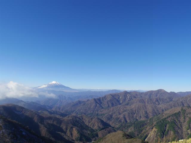 塔ノ岳(政次郎尾根・天神尾根) 登山口コースガイド 塔ノ岳山頂からの富士山と鍋割山【登山口ナビ】