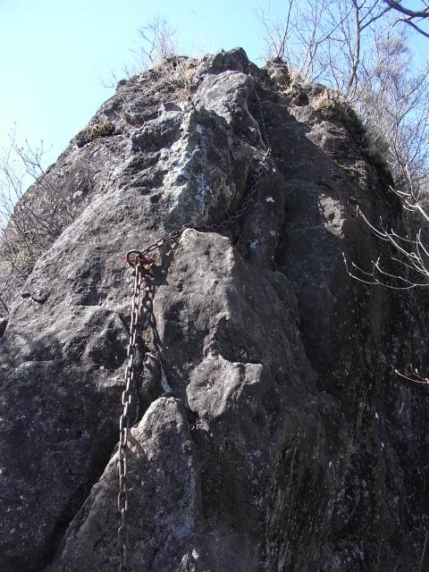 裏妙義・丁須の頭(御岳コース) 登山口コースガイド リッジ上の鎖場【登山口ナビ】