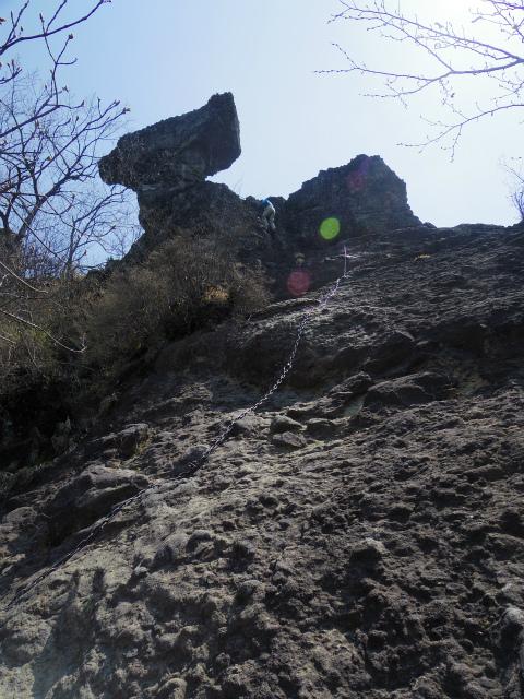 裏妙義・丁須の頭(御岳コース) 登山口コースガイド 丁須の頭基部【登山口ナビ】