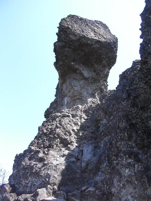 裏妙義・丁須の頭(御岳コース) 登山口コースガイド 丁須の頭基部鎖場【登山口ナビ】