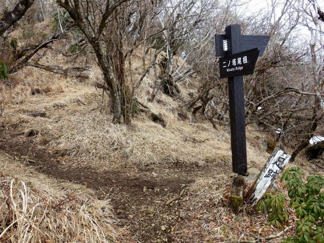 三ノ塔(二ノ塔尾根)登山口コースガイド 日本武尊の足跡分岐【登山口ナビ】