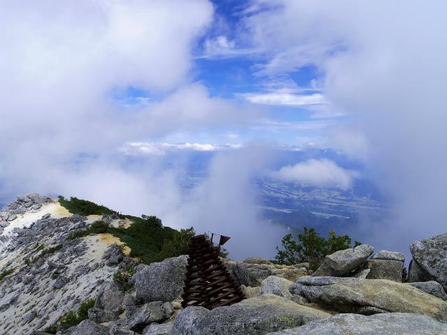 鳳凰三山(青木鉱泉~中道コース) 観音岳山頂【登山口コースガイド】