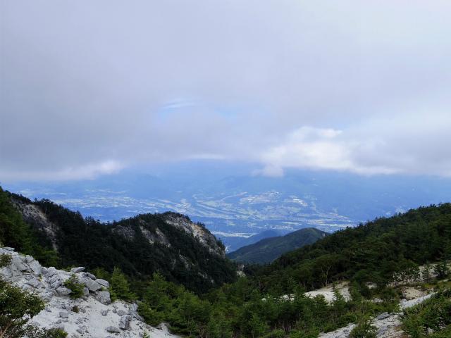 鳳凰三山(青木鉱泉~中道コース) 観音岳鞍部からの眺望【登山口コースガイド】