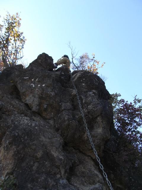 表妙義・金洞山(中ノ岳~鷹戻し~相馬岳) 登山口コースガイド こぶ岩の鎖場【登山口ナビ】
