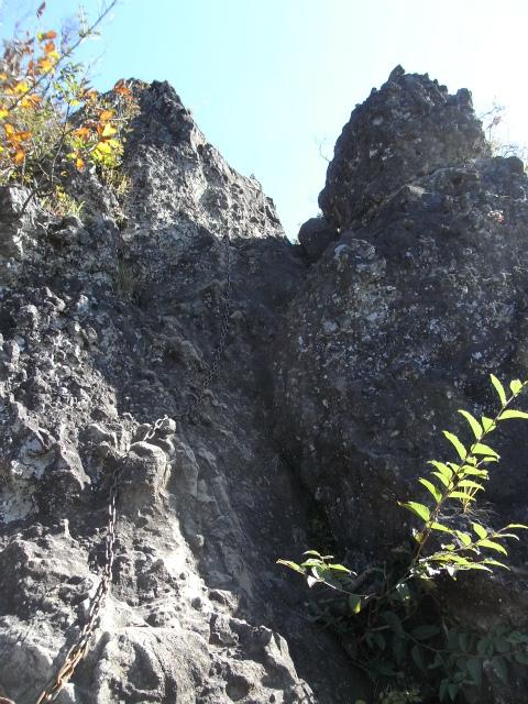 表妙義・金洞山(中ノ岳~鷹戻し~相馬岳) 登山口コースガイド 東岳の鎖場【登山口ナビ】