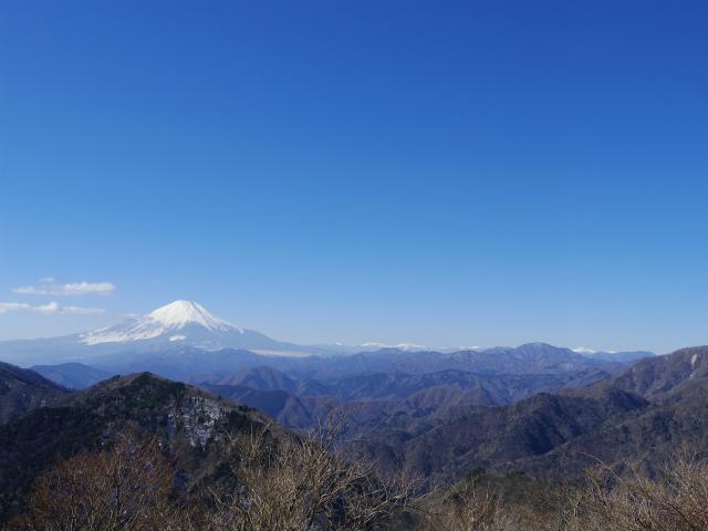 鍋割山(後沢右岸コース) コースガイド 鍋割山山頂からの眺望【登山口ナビ】