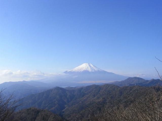 富士山が良く見える山 登山口コースガイド 菰釣山山頂【登山口ナビ】