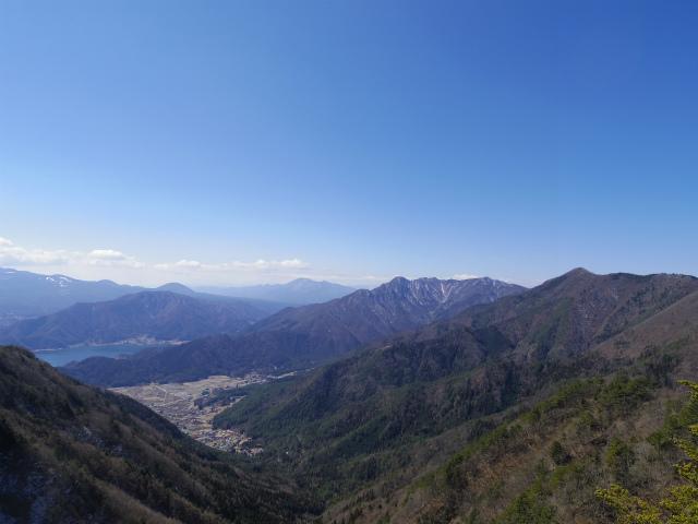 御坂黒岳(新御坂トンネル河口湖口) 富士山展望台からの御坂山地・天子山地【登山口コースガイド】