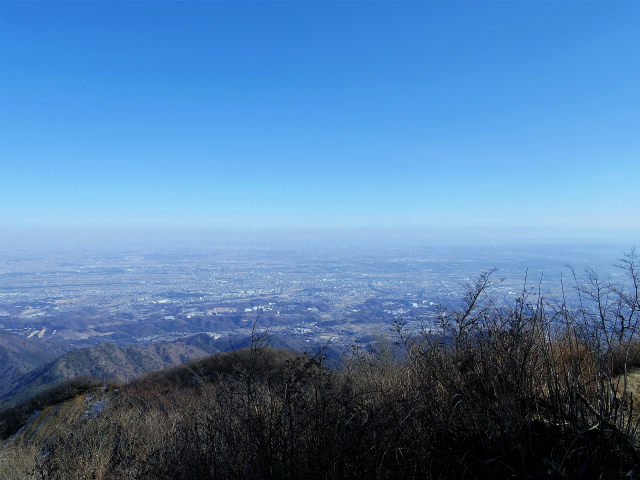 大山(ヤビツ峠~イタツミ尾根)山頂広場からの都心の眺望【登山口コースガイド】