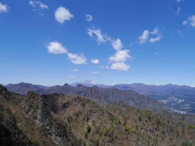 表妙義 白雲山(大の字~相馬岳)見晴からの浅間山、裏妙義の眺望【登山口コースガイド】