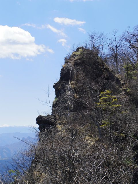 表妙義 白雲山(大の字~相馬岳)背びれ岩【登山口コースガイド】