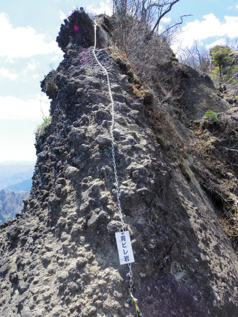 表妙義 白雲山(大の字~相馬岳)背びれ岩の鎖場【登山口コースガイド】