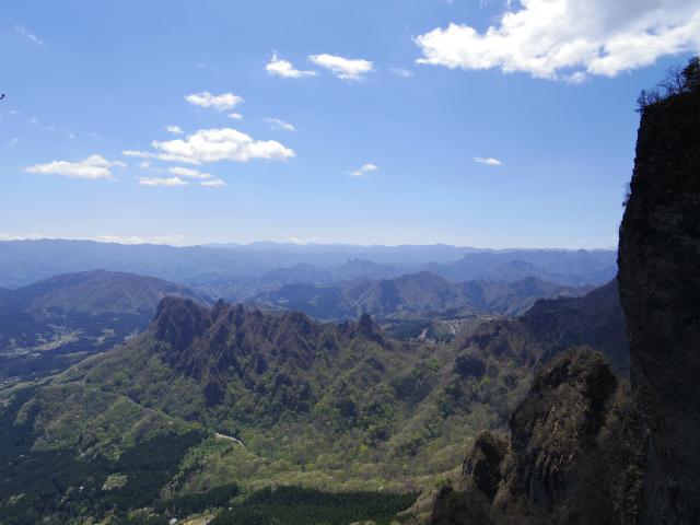 表妙義 白雲山(大の字~相馬岳)大のぞきから奥秩父・金鶏山の眺望【登山口コースガイド】