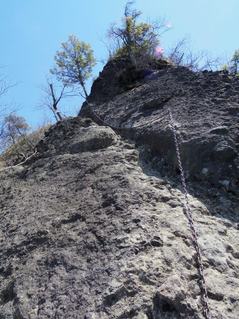 表妙義 白雲山(大の字~相馬岳)滑り台状の鎖場【登山口コースガイド】
