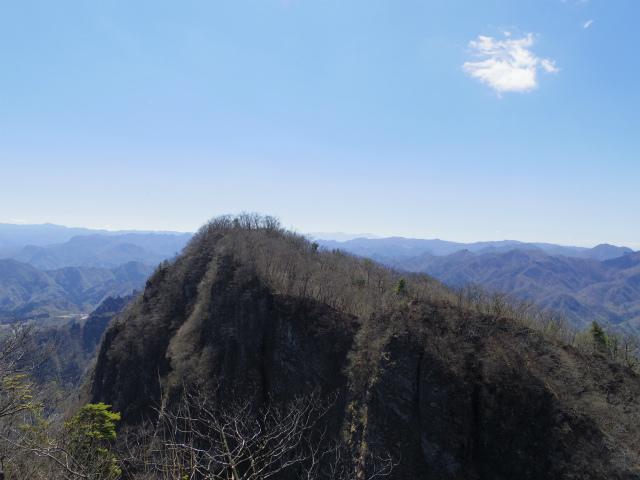 表妙義 白雲山(大の字~相馬岳)西肩から相馬岳の眺望【登山口コースガイド】