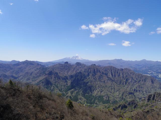 表妙義 白雲山(大の字~相馬岳)西肩から裏妙義の眺望【登山口コースガイド】