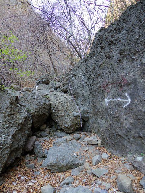 表妙義 白雲山(大の字~相馬岳)タルワキ沢コース鎖場【登山口コースガイド】